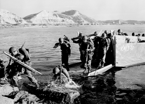 American troops landing at Pohang, on the east coast of Korea, in July 1950, during the Korean War. Associated Press