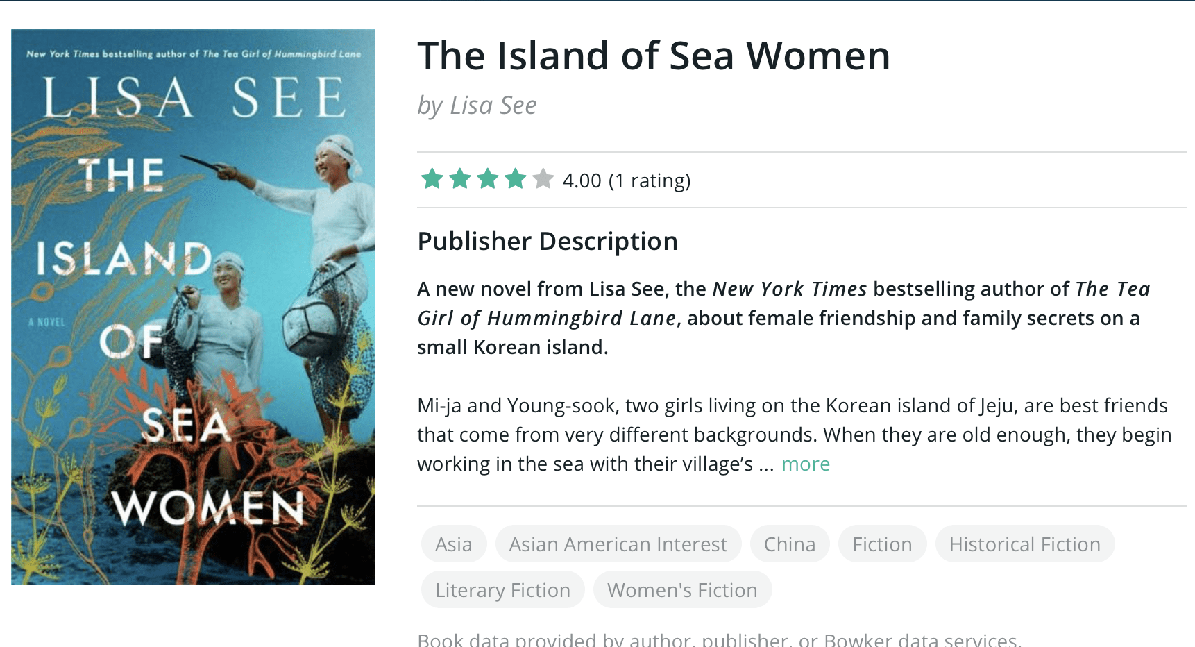 The Island of Sea Women is Bookbub's Must Reads for 2019