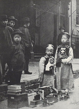 "Exclusion Act of 1882 (""Young Aristocrats,"" Pictures of Old Chinatown by Arnold Genthe, 1908)"
