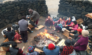Friendly Talks at the Bulteok (Outdoor Fireplace)