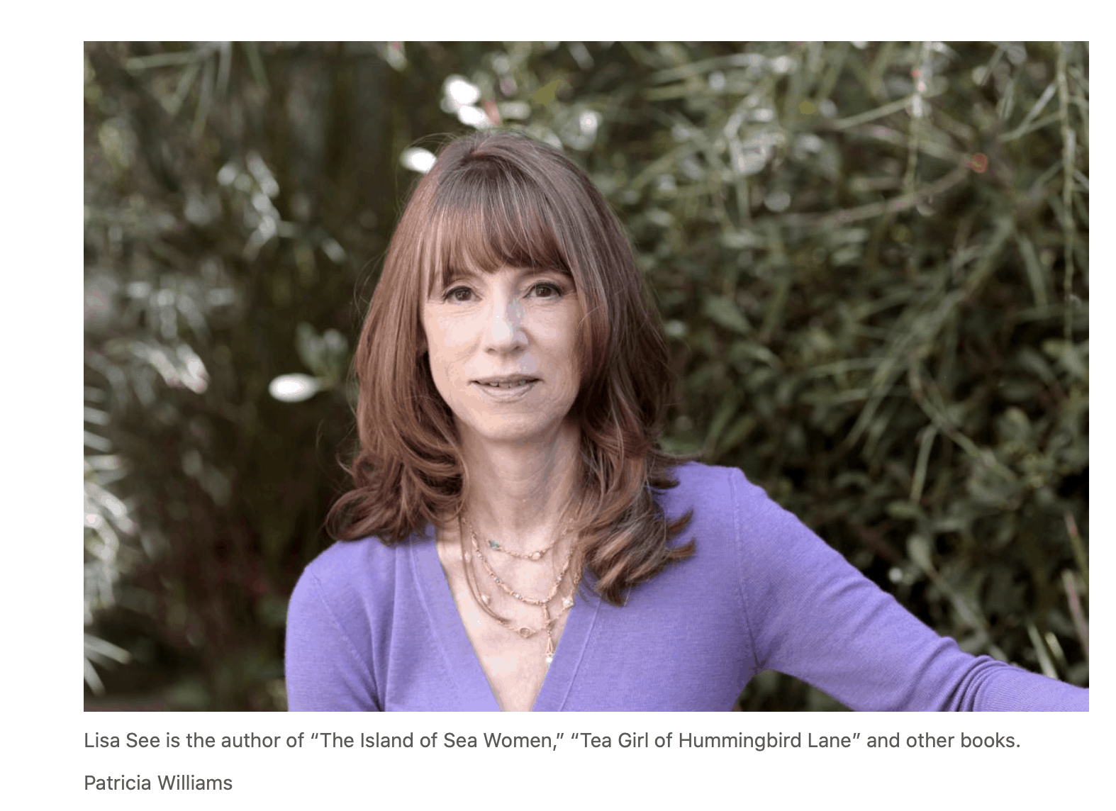 Author Lisa See will receive the 2020 Tucson Festival of Books Founders Award